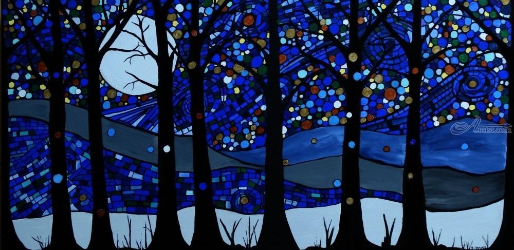 Moonlight Magic Paintings By Rachel Olynuk