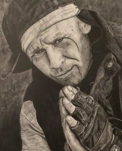 Homeless Man Praying