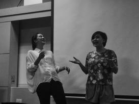 S31 Administrative Officer Karla Tajon and S30 Treasurer Therese de Guzman for the Production Management workshop