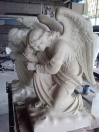 Replica Statue of St. Michael the Archangel Side-by-side