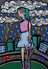 How I long to walk carefree in the rain By Charlotte Farhan