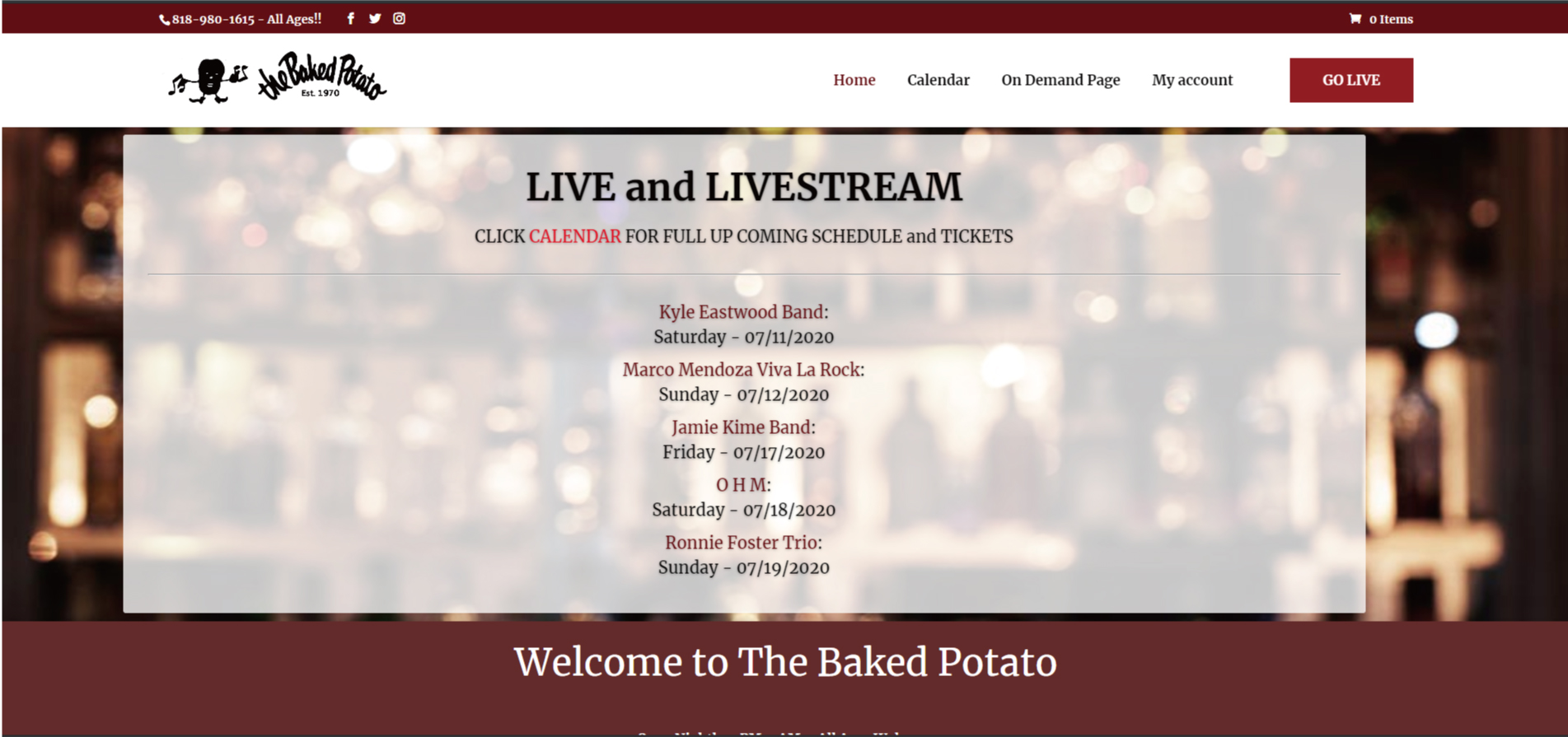 Toshi Yanagi| Jamie Kime Band The Baked Potato LIVE|LIVESTREAMで見るぞ、と。もしくはオンデマンド。