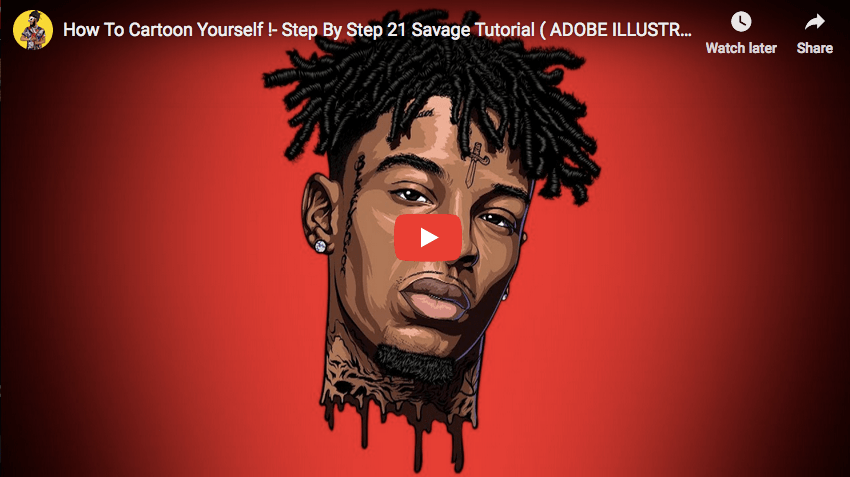 Ai Tutorial How To Cartoon Yourself Step By Step 21 Savage Tutorial Adobe Illustrator Artist Connect