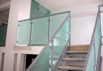 Commercial Sandblasted Designs Artistcraft Com   Etched Glass Stair Panels   Bannister   Mirror   Tempered Glass   Duplex   Glass Etching