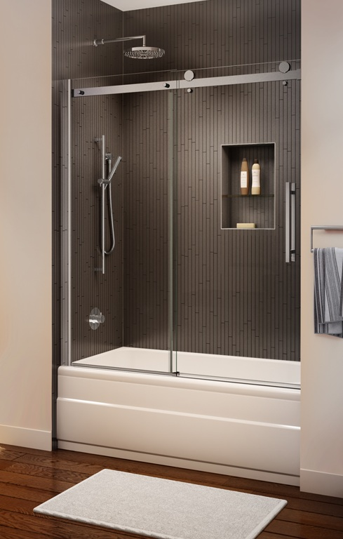 Novara Frameless Sliding Tub Enclosure