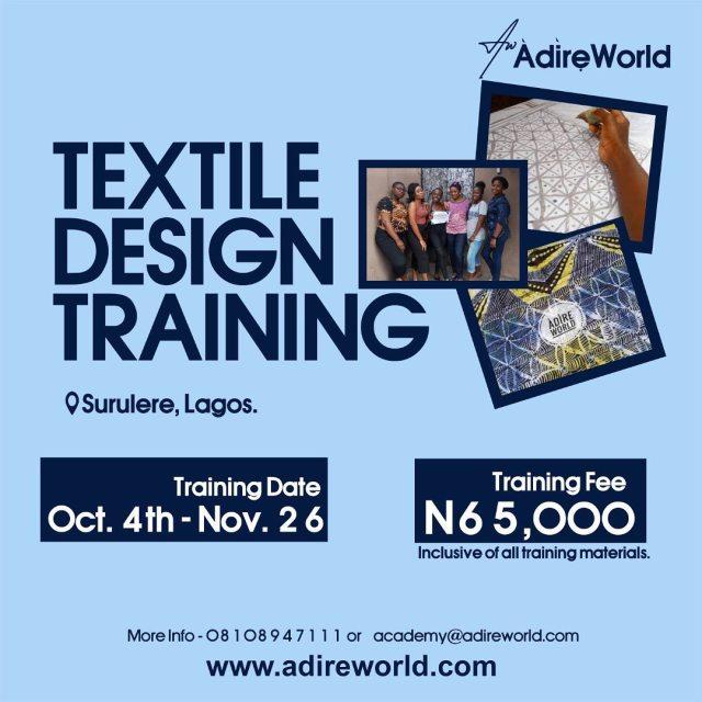 Мы рады сообщить, что мы будем обучаться на дизайнера физического текстиля с ОКТЯБРЯ 2021 ПО НОЯБРЬ 2021. Это обучение длится до ...