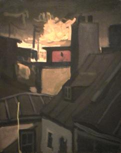 Ciel fumé - 1977-1979 Acrylique sur toile 61cm X 77cm Louis Fortier PRIX : 1 050$