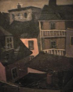 Galerie maison brune - 1977-1979 Acrylique sur toile 61cm X 77cm Louis Fortier PRIX : 1 050$