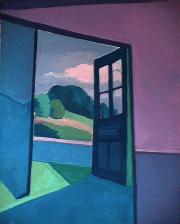 La porte de la nature - 1984 Acrylique sur toile 61cm X 76cm Louis Fortier
