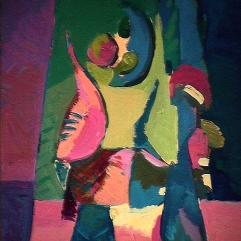 Échec - 1984 Acrylique sur masonite 41cm X 51cm Louis Fortier PRIX : 275$