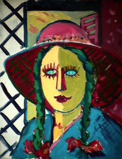 Écartée - 1984 Acrylique sur toile 41cm X 51cm Louis Fortier