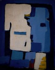 Têtes carrées - 1984 Acrylique sur masonite 21cm X 26cm Louis Fortier