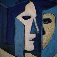 Face cachée - 1984 Acrylique sur masonite 21cm X 26cm Louis Fortier PRIX : 125$