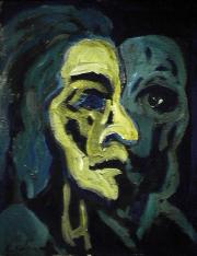 Réalisme - 1984 Acrylique sur masonite 21cm X 26cm Louis Fortier