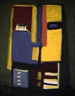 Rire jaune - 1984 Acrylique sur masonite 21cm X 26cm Louis Fortier