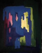 Facettes - 1984 Acrylique sur masonite 21cm X 26cm Louis Fortier