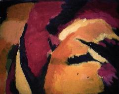 Spiritualité - 1984 Acrylique sur masonite 21cm X 26cm Louis Fortier