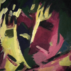 Passion - 1984 Acrylique sur masonite 21cm X 26cm Louis Fortier PRIX : 125$