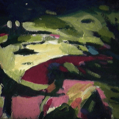 Mode - 1984 Acrylique sur masonite 21cm X 26cm Louis Fortier