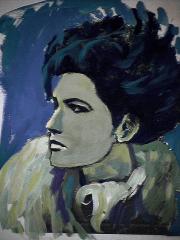 La bohème - 1984 Acrylique sur carton 21cm X 26cm Louis Fortier