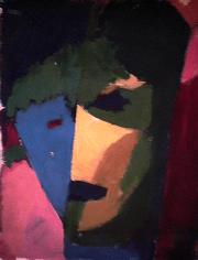 Naïf - 1984 Acrylique sur carton 21cm X 26cm Louis Fortier