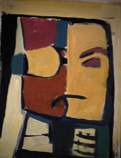 Divorce - 1984 Acrylique sur carton 21cm X 26cm Louis Fortier