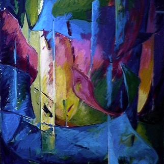Émergence - 1980 Acrylique sur masonite 91cm X 122cm Louis Fortier PRIX : 1 500$