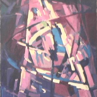 Montagne - 1984 Acrylique sur masonite 61cm X 76cm Louis Fortier PRIX : 625$