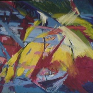 Phoenix - 1984 Acrylique sur masonite 92cm X 122cm Louis Fortier