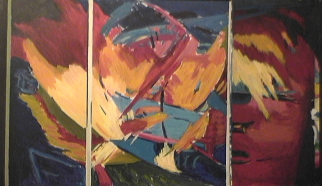 Natif - 1984 Acrylique sur masonite 92cm X 122cm Louis Fortier