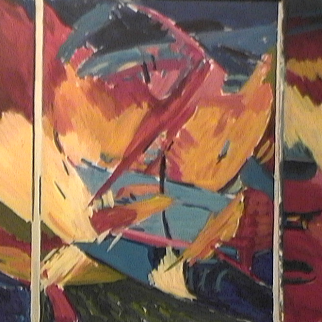 Natif - 1984 Acrylique sur masonite 92cm X 122cm Louis Fortier PRIX : 1 500$