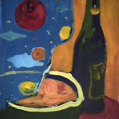 Festin divin - 1984 Acrylique sur carton 21cm X 26cm Louis Fortier PRIX : 125$