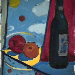 Partage - 1984 Acrylique sur carton 21cm X 26cm Louis Fortier PRIX : 125$