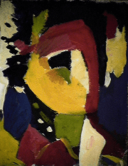 L'enchanteur - 1984 Acrylique sur carton 21cm X 26cm Louis Fortier