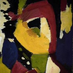 L'enchanteur - 1984 Acrylique sur carton 21cm X 26cm Louis Fortier PRIX : 125$