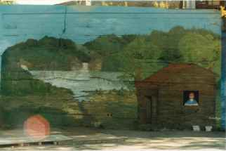 Fresques de l'Îlot Fleurie Projet collectif 1991 Louis Fortier, Collection personnelle.