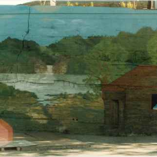 Souvenirs d'enfance Fresques de l'Îlot Fleurie Projet collectif 1991 Fresque par Chistian Basquin Louis Fortier, Collection personnelle.