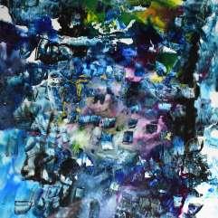 Nuit - 1994-1997 Acrylique sur acétate 51cm X 61cm Louis Fortier PRIX : 425$