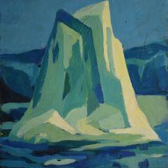 Iceberg - 1979 Acrylique sur toile 41cm X 52cm Louis Fortier