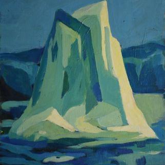 Iceberg - 1979 Acrylique sur toile 41cm X 52cm Louis Fortier PRIX : Oeuvre non disponible (vendue)