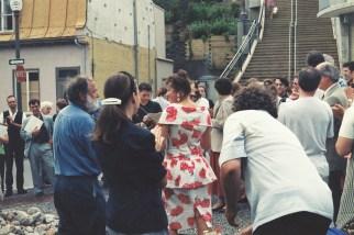 Dévoilement Prédateur Bill Vazan, sculpteur professionnel Îlot Fleurie 9 août 1996