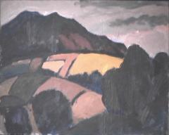 Montagne - 1982 Acrylique sur masonite 51cm X 41cm Louis Fortier