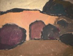 Désert forestier - 1982 Acrylique sur masonite 51cm X 41cm Louis Fortier