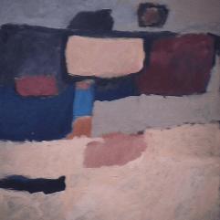 Paturage - 1982 Acrylique sur masonite 41cm X 51cm Louis Fortier