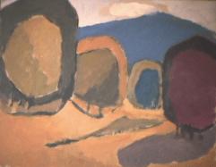 Sommet bleu - 1982 Acrylique sur masonite 51cm X 41cm Louis Fortier