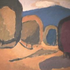 Sommet bleu - 1982 Acrylique sur masonite 51cm X 41cm Louis Fortier PRIX : 300$
