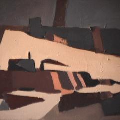 Village - 1982 Acrylique sur masonite 41cm X 51cm Louis Fortier PRIX : 300$