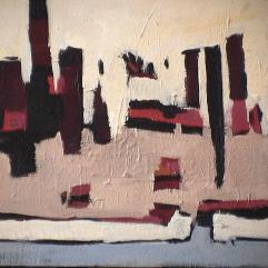 Village - 1979 Acrylique sur toile 52cm X 41cm Louis Fortier PRIX : 300$