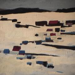 Saint-Adolphe - 1979 Acrylique sur toile 51cm X 41cm Louis Fortier PRIX : 300$