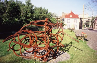 Sculpture Îlot Fleurie Circa 1991-1996 Louis Fortier, Collection personnelle.